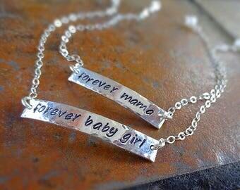 Mother & Daughter bracelet SET, forever bracelet, preschool, kindergarten, mommy and me, child's bracelet, baby girl, forever mama, Otis B