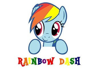 ON SALE Rainbow Dash My Little Pony SVG File