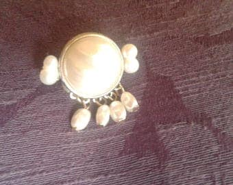 Vintage Pearl Pin, repurposed from a Vintage earring.