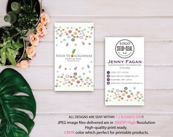 Custom YL Business Card, YL Oils Business Card, Fast Free Personalization, Essential Oil Business Card, Printable Business Card 0011