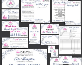 FULL Paparazzi Marketing Kit, Paparazzi Bundle, Paparazzi Business Cards, Paparazzi Marketing, Free Personalization, Printable file PP22