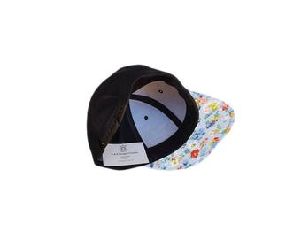 Floral Baseball Hat with Pocket