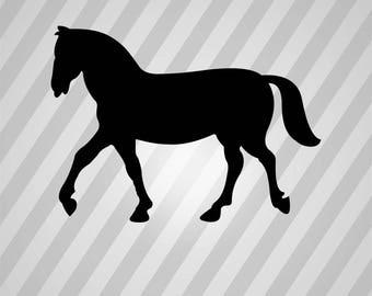 Horse Silhouette 2 - Svg Dxf Eps Silhouette Rld RDWorks Pdf Png AI Files Digital Cut Vector File Svg File Cricut Laser Cut