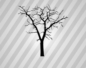 dead tree Silhouette - Svg Dxf Eps Silhouette Rld RDWorks Pdf Png AI Files Digital Cut Vector File Svg File Cricut Laser Cut