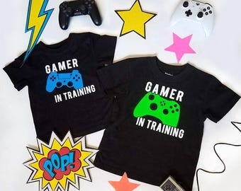 Gamer in Training Kids Shirt, Gamer T-shirt, Video Game Tee, Custom You T-Shirts, Toddler T-shirts, Nerdy T-Shirts, Geeky Shirts for Kids
