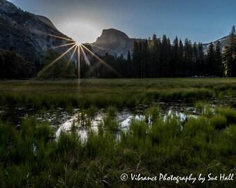 Sunstar Over Half Dome, Yosemite, California