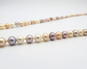ASAMAG-Mix-Colour Pearl Long Necklace-approximately length of 186 cm