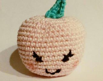 """""""cheek"""" little Apple crochet amigurumi"""