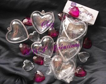 Lot 3 hearts pvc krystal diam. 6CM