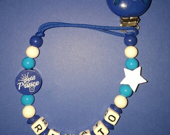 "Personalized pacifier ""little prince"""