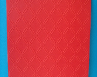 Red embossed card background cut grillages