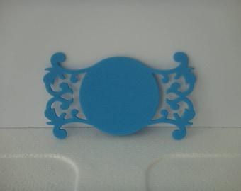 Cutout tag blue foam for creation