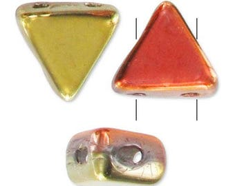 Beads Khéops® by Puca® 6 mm Crystal California Gold Rush - 1 packet of 10 g