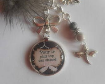 """Bag charm, door keys/home / """"the more the atsems top"""" / year end gift/party / thanks/Christmas/birthday"""