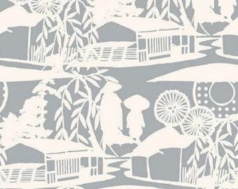 Fabric, landscape, houses, Thévenon, China