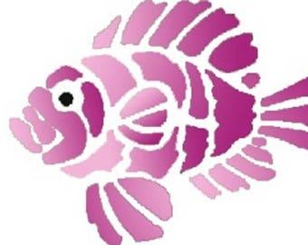 NEW STENCIL ROSE 17 * 12cm: lionfish