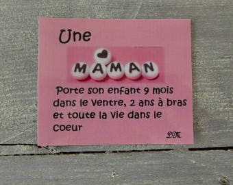 Card on the love of a mother (magnet)