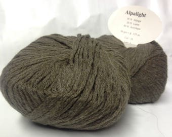 set of 5 balls of yarn: Alpaca /taupe / made in France