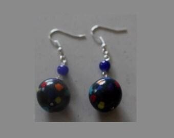 Multi color Pearl Earrings