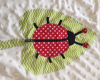 Blanket for stroller, pram or bassinet, collection * my little Ladybug *.