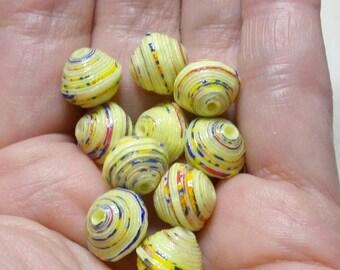 """Paper beads """"Clara"""" handmade, unique designs."""