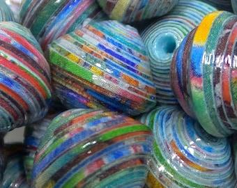 """Paper beads """"Eugénie"""" handmade, unique designs."""