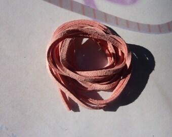 1 meter of pale pink suede cord