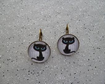 Mr cat Stud Earrings
