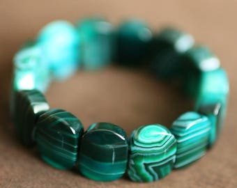 Green Agate Natural Stone Bracelet
