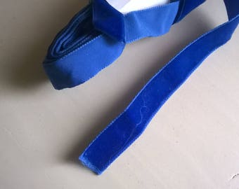 (2) 15 mm Royal Blue Velvet Ribbon