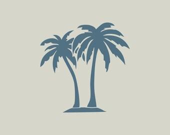 Palm tree. Adhesive vinyl stencil.  Stencil Palm (ref 262)