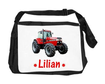 Personalized with name Ttacteur red shoulder bag