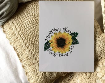 Hand lettering, homemade print, 8.5x11in, home decor, cardstock