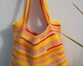 """Tangier"" crochet cotton and polyester bag"