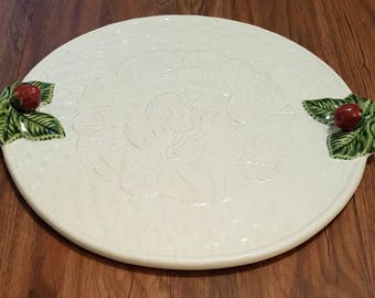 Vintage Studio Nova Portugal Christmas platter, mint condiotion collectible platter, studio nova serving tray, made in portugal