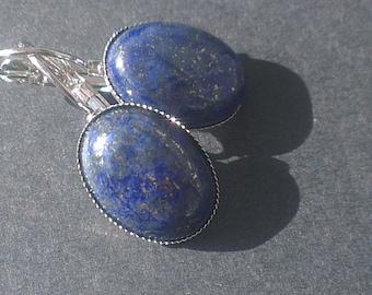 Sleeper earrings lapis lazuli