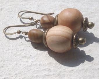 Earrings: Nature wood