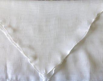 Curtain white polyester tassel, 1 pair