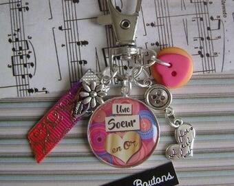 "Keychain / bag charm ""Sister"""