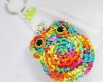 Multicolored OWL Amigurumi - Ref PCMC01 key holder