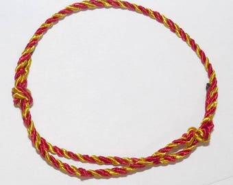 Brazilian Catalan man Macrame Friendship Bracelet