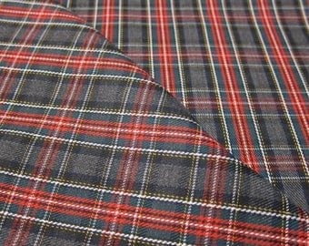 A plaid fabric
