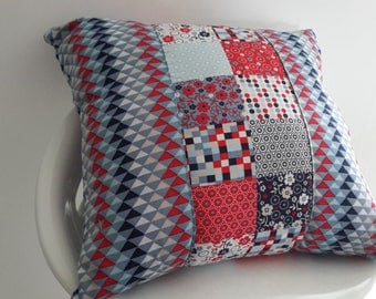 Cushion cover 40 x 40 cm triangles and geometric patterns