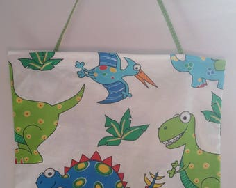 "Bag child ""dinosaurs"" blue, green, white"
