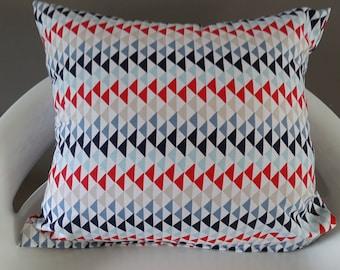30 x 35 cm blue/red geometric Cushion cover