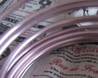 set of 3meters of aluminum foil 4mm in diameter old pink