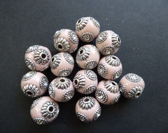Indonesian Pearl 1 pink 14 mm hole 2 mm