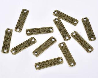 "10 ""label"" bronze 28mm x 6.6 mm connectors"