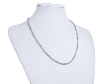 Steel necklace stainless Nickle size 50 cms long