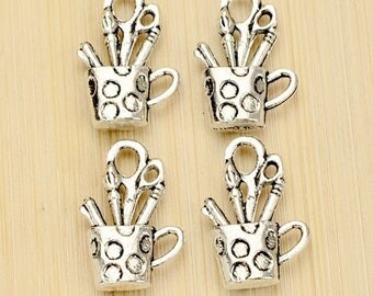 Sold in packs of 10 pencils or brushes pot charms
